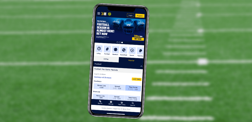 Application mobile William Hill Sports